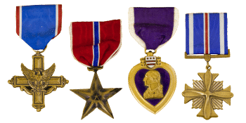 funeral home veterans info 000044 medals cob