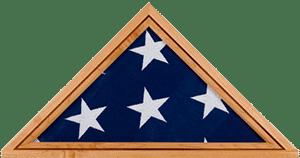 funeral home veterans info 000046 wood flag case