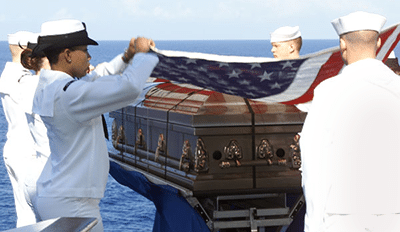 Veterans Funeral Care Veteran Burial-at-Sea Casket